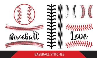 Baseball  Stitches  on a white background vector