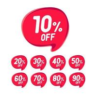 Sale Discount Banner. Discount offer price tag. vector