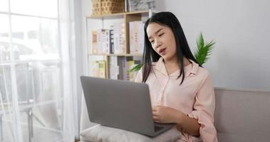 Woman on A Video Call on Laptop