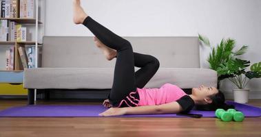 Woman Doing Yoga Exercise video