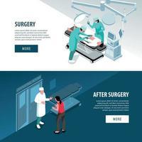 Surgery Horizontal Banners Set Vector Illustration