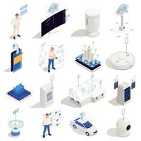 Internet Of Things Isometric Icons Vector Illustration