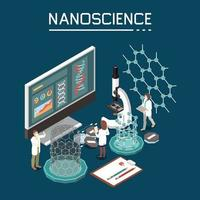Nanotechnology Isometric Composition Vector Illustration