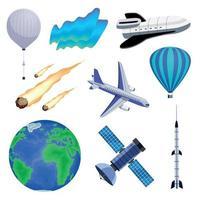 Earth Atmosphere Set Vector Illustration