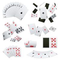 Poker Cards Realistic Sets Vector Illustration