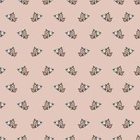 Vector retro small flower illustration motif seamless repeat pattern