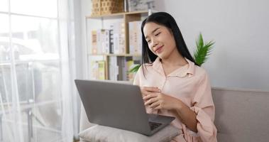 Woman Video Call on Laptop