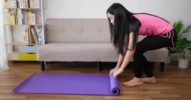 Woman With a Yoga Mat video