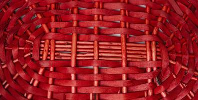 Red weave basket texture for background photo