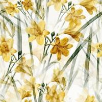 Yellow Spring Daffodil Floral Surface Pattern vector