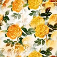 Yellow Rose Floral Textile Print vector