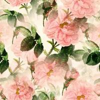 Pretty Pink Rose Flower Surface Pattern vector