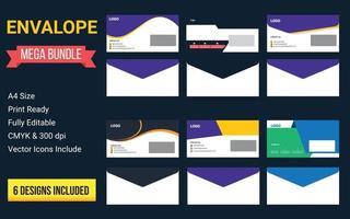 Creative envalope templates  Stationery design vector set