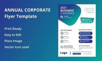 Annual Corporate Conference Flyer vector