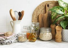 Kitchen utensils, tools and dishware photo
