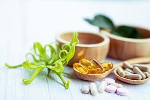 Alternative medicine herbal organic capsule photo