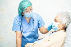 Asian doctor wearing PPE suit to protect infection Coronavirus photo