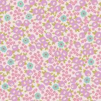 Vector small flower illustration motif ditsy seamless repeat pattern