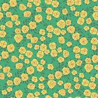 Vector small retro rose flower illustration seamless pattern