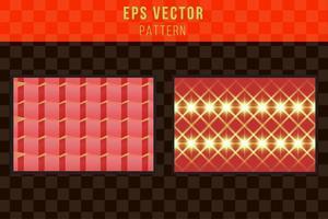 patrón rojo y verde de fondo sin fisuras paisaje interminable vector