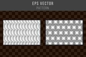 Set of grayscale seamless pattern black and white eps vector editable