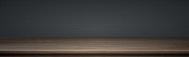 Large table top solid wood texture, transparent background - Vector