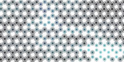 patrón de vector azul claro, verde con curvas.
