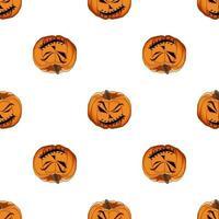 Illustration on theme big colored pattern Halloween vector