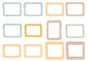 Various Doodle Frame Vector