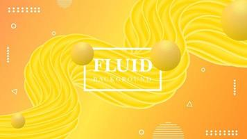 Fluid background with golden color free  Vector