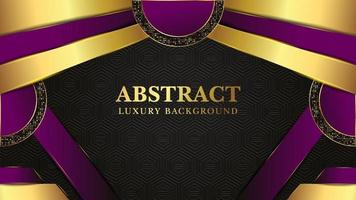 Modern  luxury background with golden shape and golden light vector