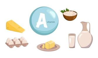 A source of vitamin A, calcium and protein. dairy farm products vector