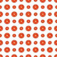 cute tomato pattern vector