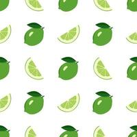 Cute seamless bright pattern of citrus fruits vector