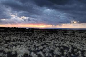 Beautiful sunset on the Big Island, Kohala Coast,Hawaii photo