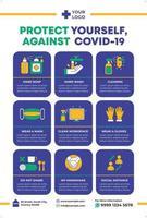 Covid-19 Poster in Flat Design Style. Coronavirus Campaign. vector