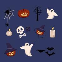 Festive elements for halloween. vector