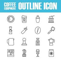 outline coffee icon vector