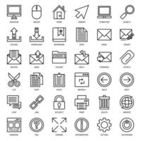 Email Connection outline icon vector