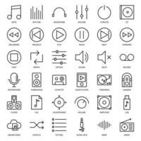 interfaz de usuario de música vector