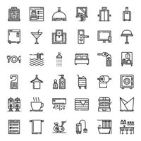 Hotel Service outline icon vector