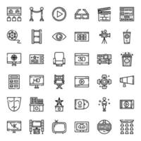 Movie entertainment outline icon vector