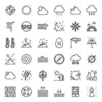 Weather forecast outline icon vector