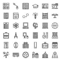 Education outline icon vector