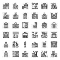 building outline icon vector
