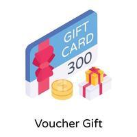 bono regalo y tarjetas vector