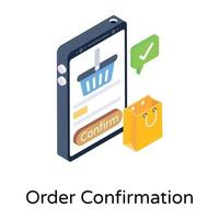 Order Confirmation and verification vector