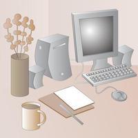 Working Desktop Illustration vector
