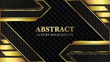 Abstract Luxury background with dark and gold texture Free vector