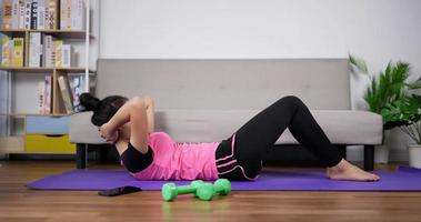 Woman Doing Sit up Exercises video